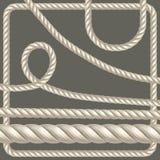 Verdrehtes Seil von verschiedenen Formen Vektor Stock Abbildung
