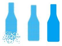 Verdreven Dot Halftone Beer Bottle Icon royalty-vrije illustratie