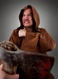 Verdugo medieval furioso Fotos de archivo libres de regalías