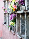 Verduister gloed in oude columbarium royalty-vrije stock foto's