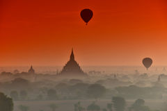 Verduistering in Bagan Royalty-vrije Stock Fotografie
