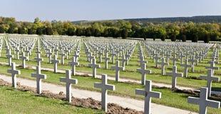 Verdun kriger kyrkogården Arkivbild