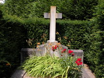 Verdun Unknown Soldier Grave. A view of a grave to an unknown soldier in the Verdun military cemetery in Verdun, France Royalty Free Stock Photo