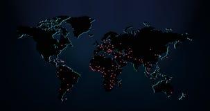 Verdunkelte Weltkarte Lizenzfreie Stockbilder