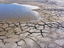 Verdunstendes Salzwasser-Gezeiten- Pool Stockbild