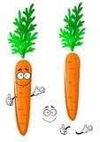 Verdura anaranjada feliz de la zanahoria de la historieta Foto de archivo libre de regalías