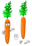 Verdura arancio felice della carota del fumetto Fotografia Stock Libera da Diritti
