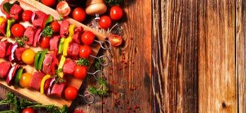 Verdura arrostita e carne arrostita, barbecue4 Fotografia Stock Libera da Diritti