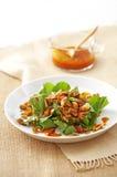 Verdura asiatica fritta Fotografie Stock