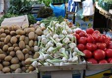 Verdura colorida, mercado en Zagreb foto de archivo libre de regalías