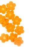 Verdura de la zanahoria de la forma de la flora aislada en blanco Fotografía de archivo