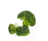 Verdura del broccolo isolata su bianco Immagini Stock