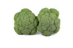 Verdura del broccolo isolata su fondo bianco Fotografia Stock Libera da Diritti