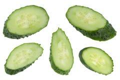 Verdura del cetriolo su bianco Immagine Stock