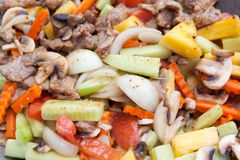 Verdura del wok Fotografia Stock