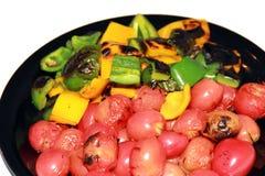 Verdura della griglia su una zolla Immagini Stock