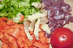 verdura e carne Fotografia Stock