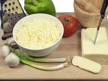 Verdura e formaggio per una pizza Immagini Stock Libere da Diritti