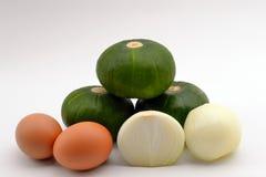 Verdura ed uova Immagine Stock