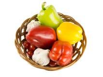 verdura en cestas Imagen de archivo libre de regalías