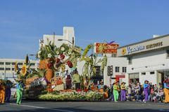 Verdura, flotador del estilo de la granja en Rose Parade famosa Fotografía de archivo