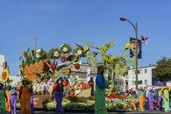 Verdura, flotador del estilo de la granja en Rose Parade famosa Fotos de archivo libres de regalías