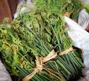 Verdura fresca al mercato rurale nel Bhutan Immagine Stock Libera da Diritti