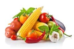 Verdura fresca con i fogli Fotografia Stock