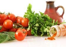 Verdura fresca con paprica e la brocca Fotografia Stock Libera da Diritti