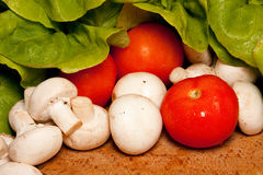 Verdura fresca dalla drogheria Fotografia Stock