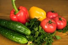Verdura fresca del mercato locale, prodotti del giardino, concetto mangiante e stante a dieta pulito Fotografie Stock