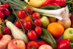 Verdura fresca e frutta Fotografia Stock Libera da Diritti