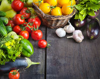 Verdura FRESCA e frutta dell'AZIENDA AGRICOLA immagini stock libere da diritti