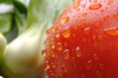 Verdura fresca e pomodoro rosso Fotografia Stock