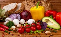 Verdura fresca e spezie Fotografie Stock