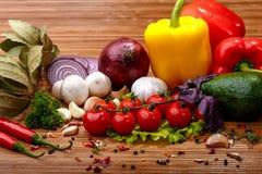 Verdura fresca e spezie Fotografia Stock Libera da Diritti