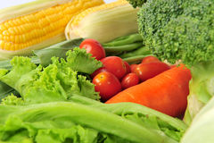 Verdura fresca isolata Fotografia Stock Libera da Diritti