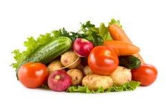 Verdura fresca isolata su bianco Fotografia Stock