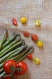 Verdura fresca pronta da cucinare un grande pasto Immagine Stock Libera da Diritti