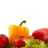 Verdura fresca su priorità bassa bianca Immagini Stock
