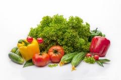 Verdura fresca su una priorità bassa bianca Immagine Stock Libera da Diritti