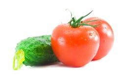 Verdura fresca su una priorità bassa bianca Fotografie Stock Libere da Diritti