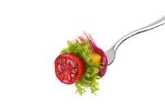 Verdura fresca sulla forcella Immagine Stock