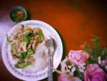Verdura fritta con riso Immagine Stock Libera da Diritti