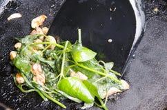 Verdura fritta scalpore viola cinesi Immagine Stock