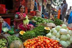 Verdura indiana di vendita Fotografie Stock Libere da Diritti