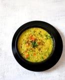 Verdura, lenticchia e daliya rotto del whaet Fotografia Stock