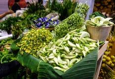 Verdura organica della Tailandia nel mercato locale fotografie stock libere da diritti