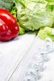 Verdura que adelgaza la comida sana por completo de vitaminas Fotos de archivo