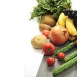 Verdura su priorità bassa bianca Immagine Stock